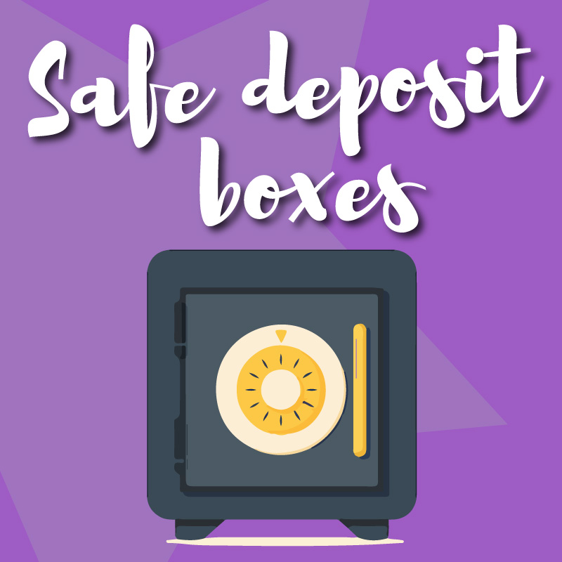 Safe Deposit Boxes Graphic