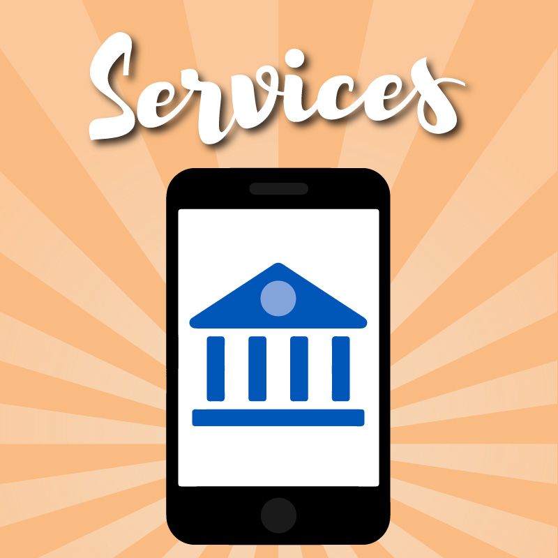 Services graphic with phone