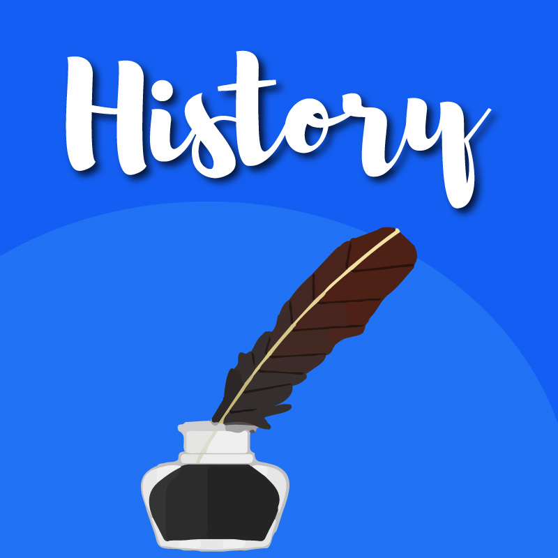 Quill Pen and ink history graphic
