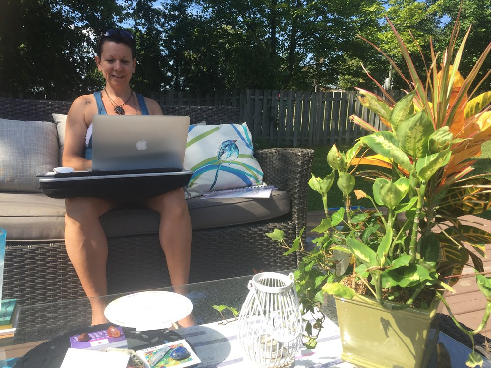 Working on my home deck is certainly a PERK to this biz model.    If you are a self starter with dreams the size of an ocean, this biz will serve you well, Dear One.