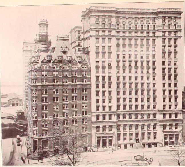 One Broadway next to 11 Broadway, circa 1903