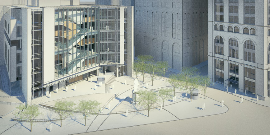"BRB Architects plan to ""reorient"" Printing House Square. Credit: BRB Architects"