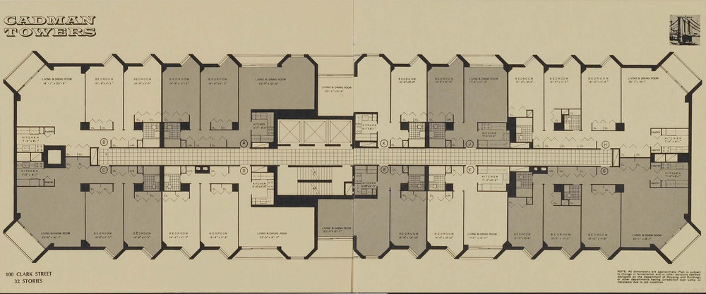 100 Clark Street floor plan. Credit: New York Real Estate Brochures Collection - Columbia University.