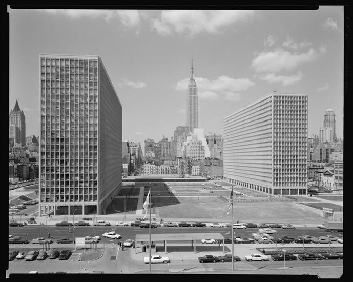 Kips Bay Towers nearing completion, 1964 (Museum of the City of New York)