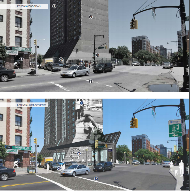 Current and proposed solutions for Morrisania Air Rights towers (  Sustainable Communities in the Bronx: Leveraging Regional Rail for Access Growth and Opportunity )
