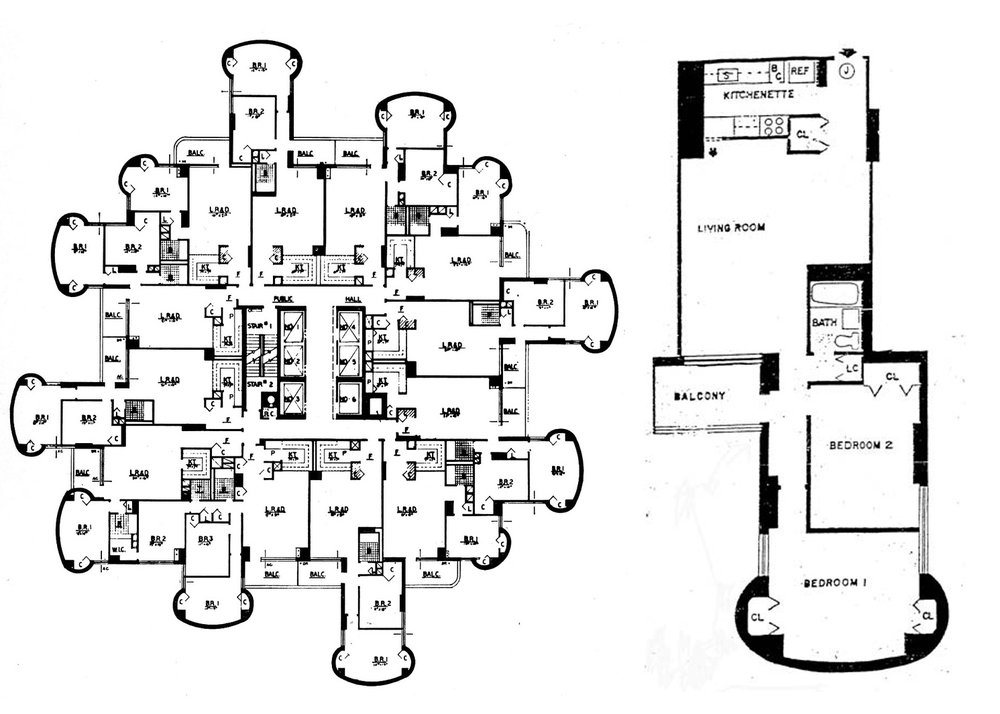 Tracey Towers Floor plans