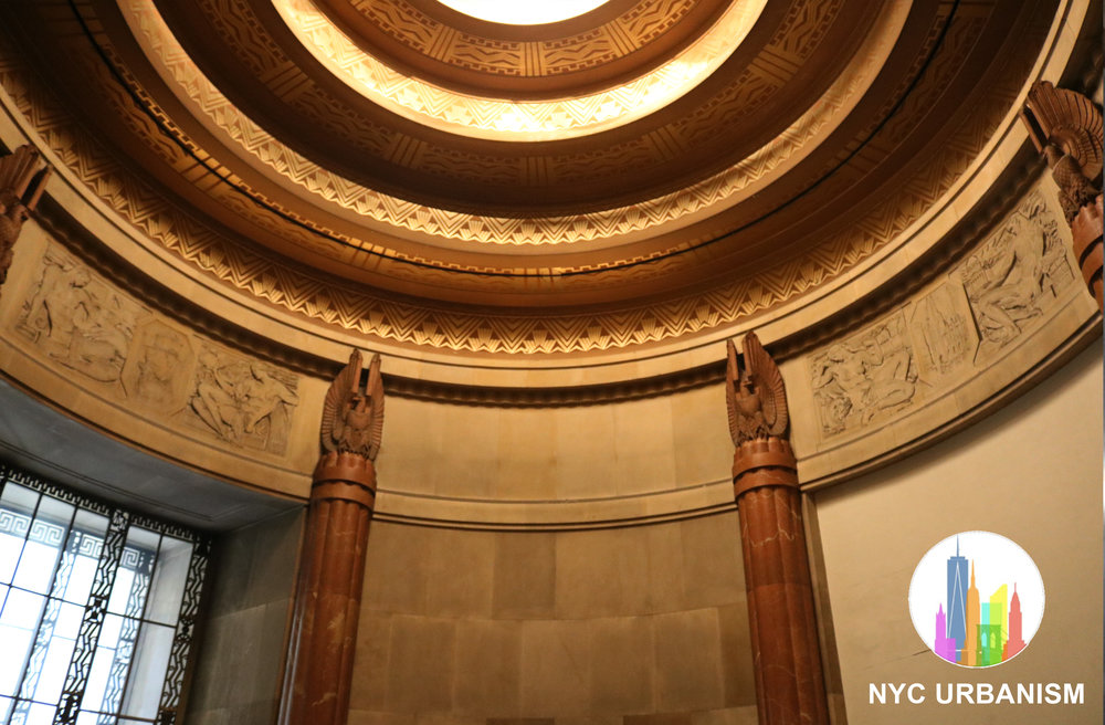 Rotunda in the entrance of the City Bank F & T bank and offices