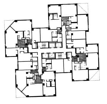 Floor plan - lower floors