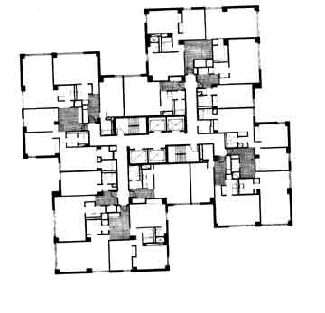Floor plan - upper floors