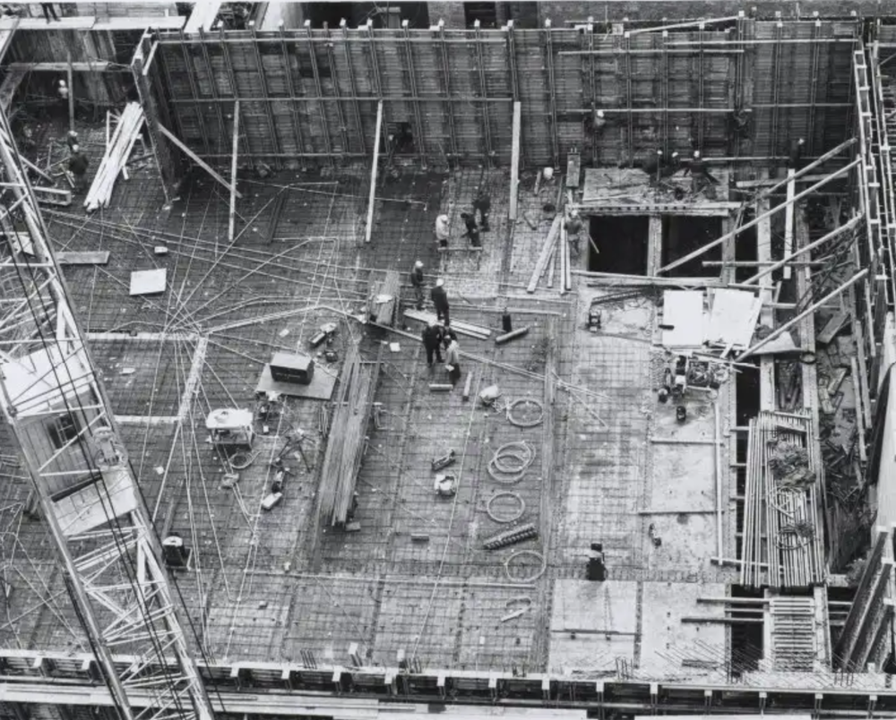 Construction view - reinforced concrete
