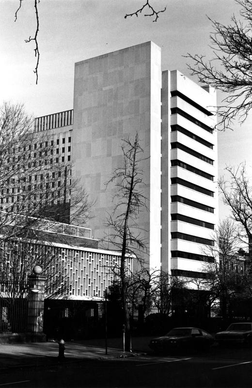 Altschul Hall tower, 1982
