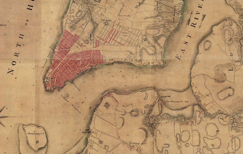 1781 Map Of Manhattan And Brooklyn Nyc Urbanism