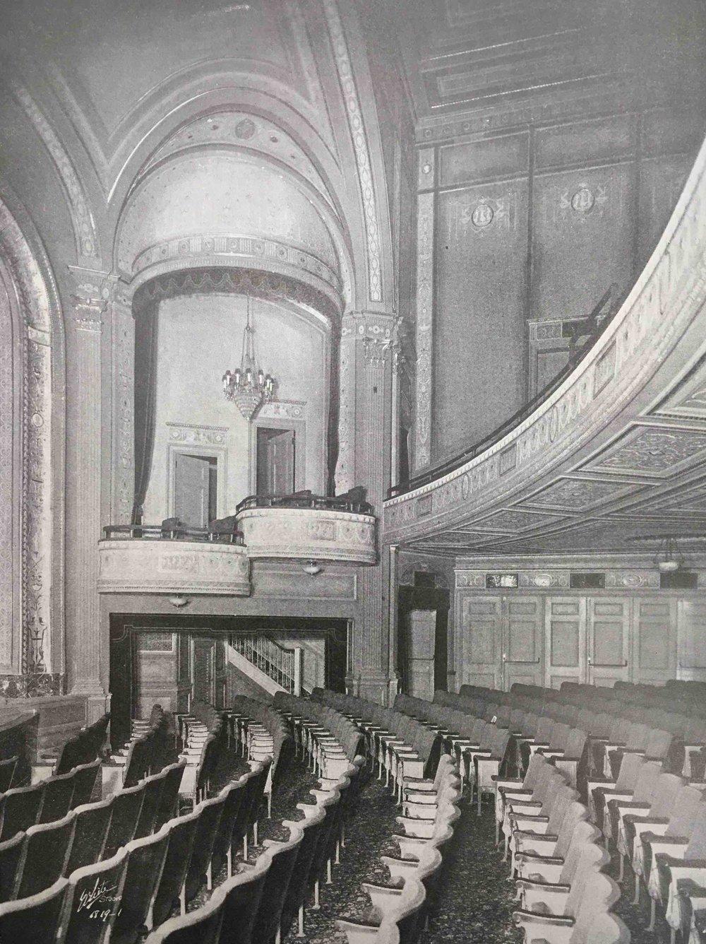 Times Square Theater interior, 1920.