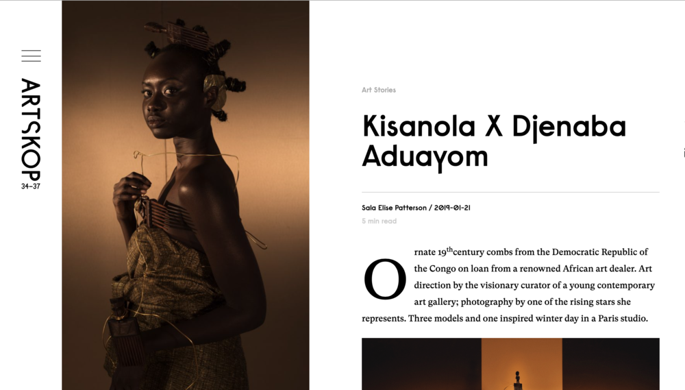 Artskop:  Kisanola by Djeneba Aduayom  photo series at the Brafa Art Fair