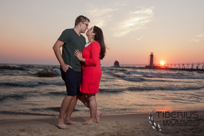 grand haven engagement photos, grand haven engagement photography