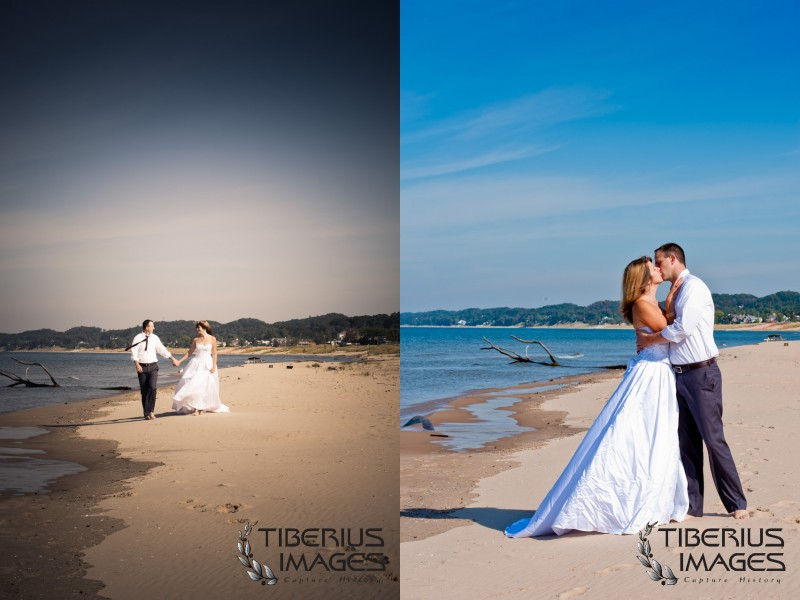 lake michigan trash the dress, grand rapids wedding photographer (9)