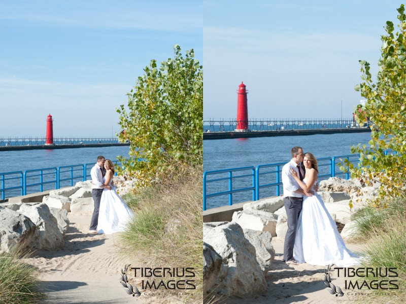 lake michigan trash the dress, grand rapids wedding photographer (18)