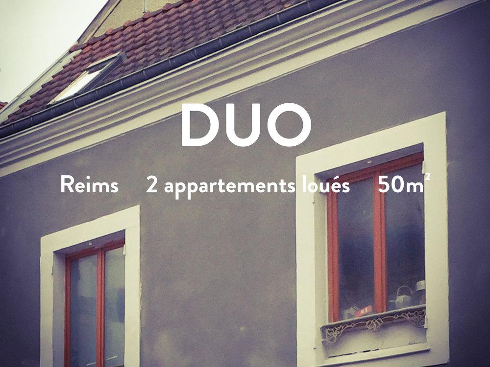 immeuble 2 appartements chambres reims tgv