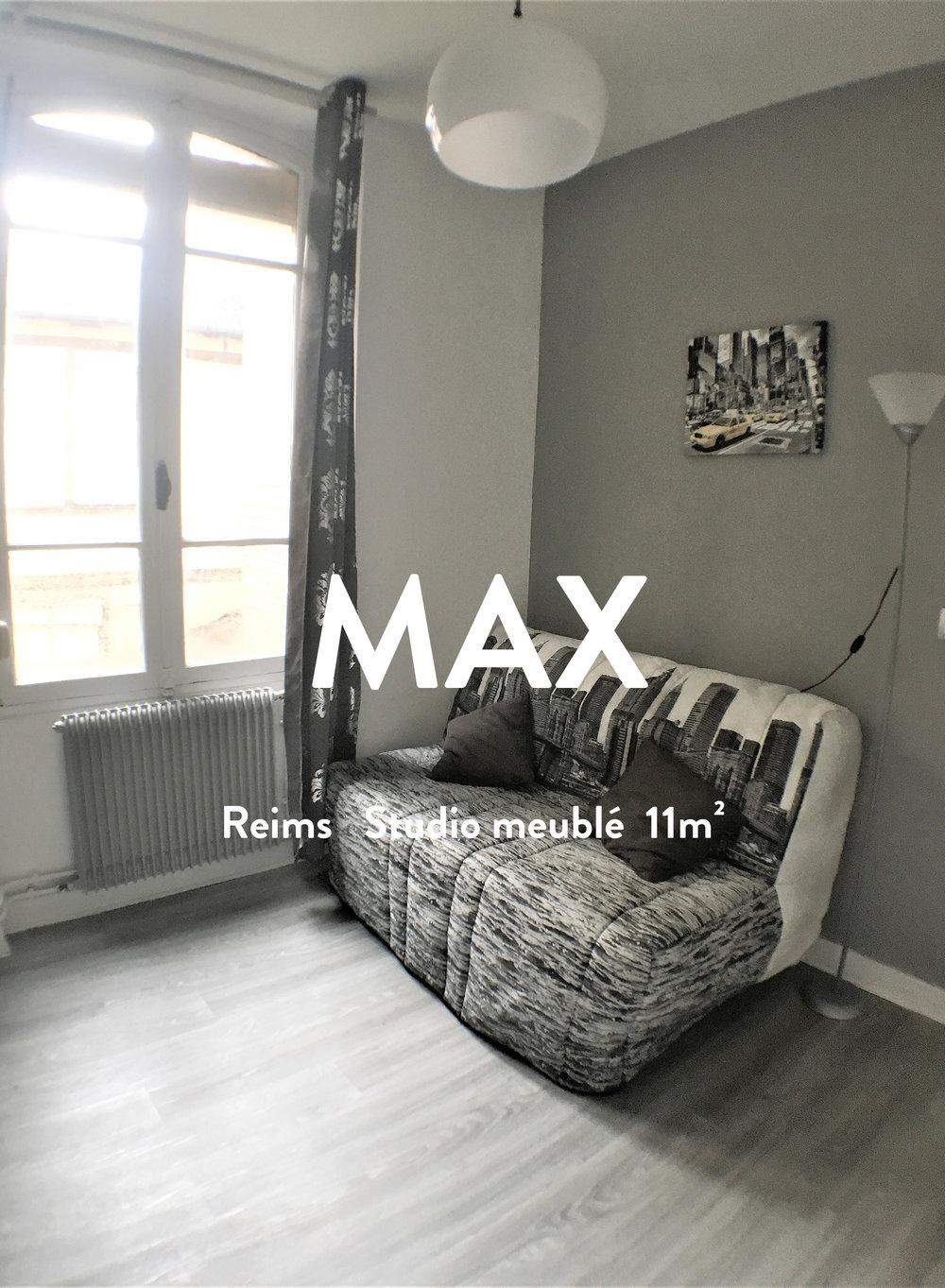 MAX - Studio Meublé - REIMS  280€+40€ de charges(chauffage inclus)