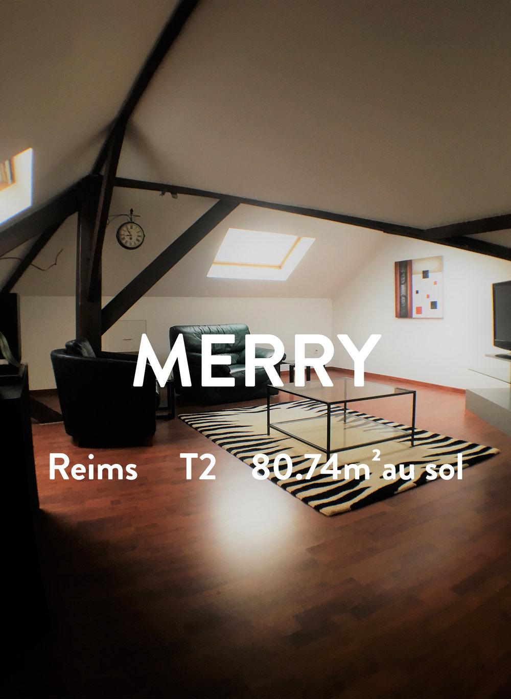 MERRY - T2 meublé - Jean Jaurès  550€ + 35€ de charges