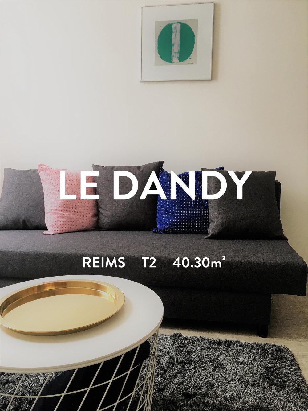 LE DANDY - T2 - REIMS  570€ + 20€ de charges (Teom incluse)