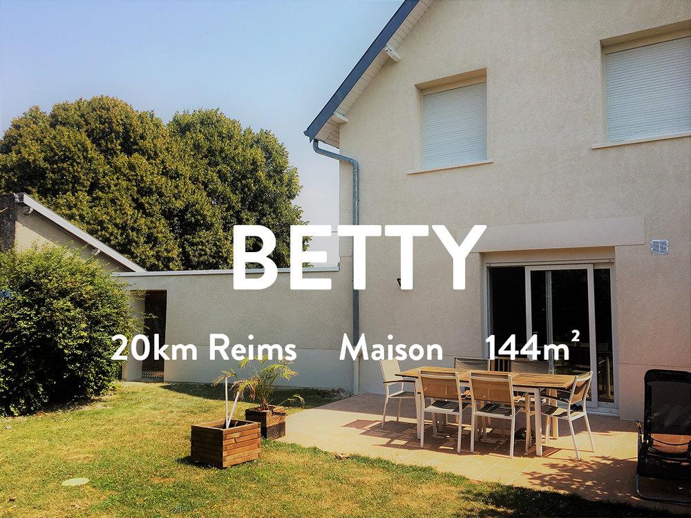 BETTY - Maison - 20km de Reims  800€ + 15€ de TEOM