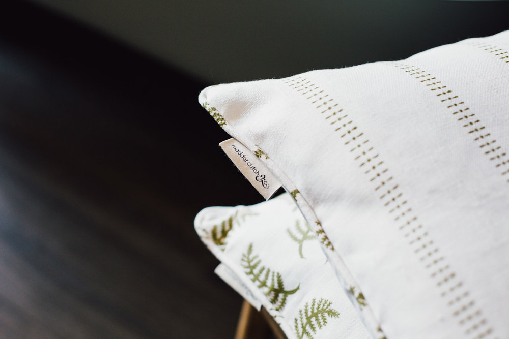 K stripe in Mollis on white linen