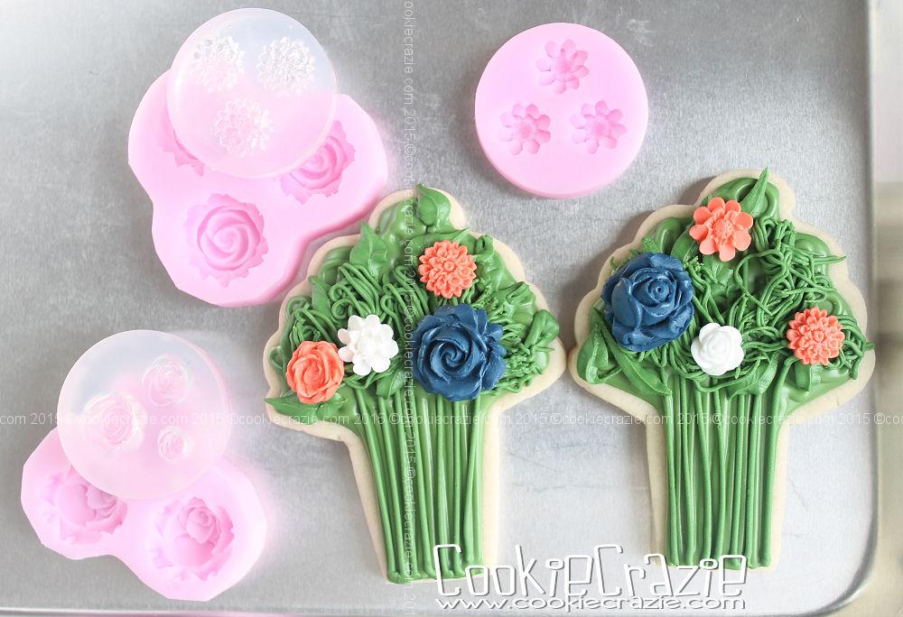 Flower Bouquet Cookie (Tutorial) — CookieCrazie