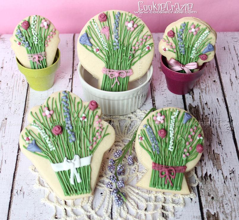 Flower Bouquet Cookies (Tutorial) — CookieCrazie