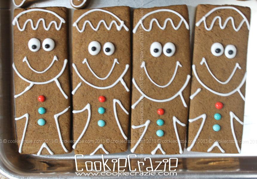 Christmas Rectangle Buddy Cookies Tutorial Cookiecrazie