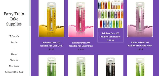 http://www.partytraincakesupplies.com/collections/edible-pens/products/rainbow-dust-100-edible-pen-jet-black