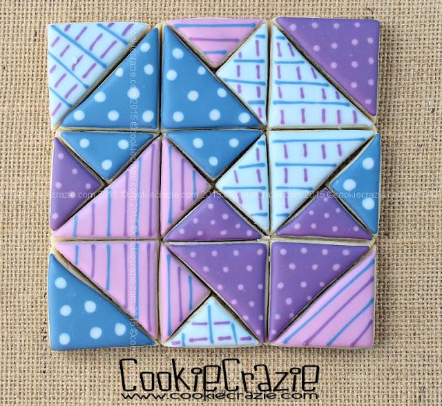 Hidden Card Trick Quilt Block Cookies Cookiecrazie