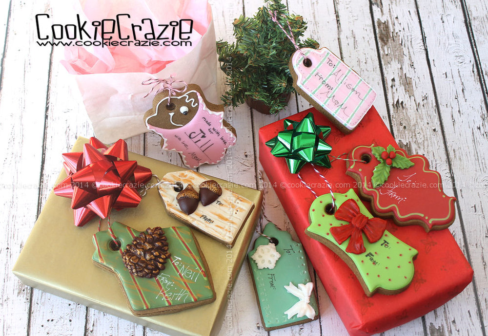 christmas gift tag cookies tutorial - Decorative Christmas Gift Tags