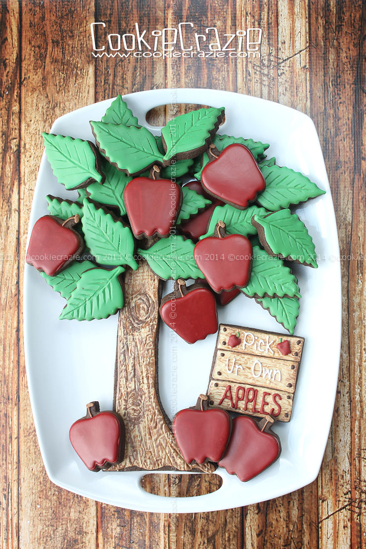 Apple Tree Cookie Platter Tutorial Cookiecrazie