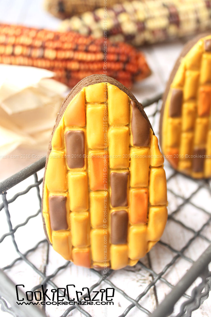 Indian Corn Decorated Cookie (Tutorial)