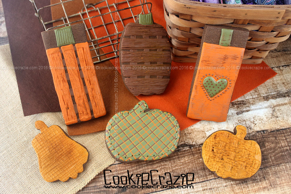 Rustic Thanksgiving Pumpkin Decorated Cookies