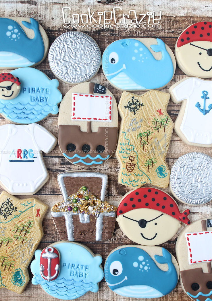 Pirate Baby Decorated Cookie Collection Cookiecrazie