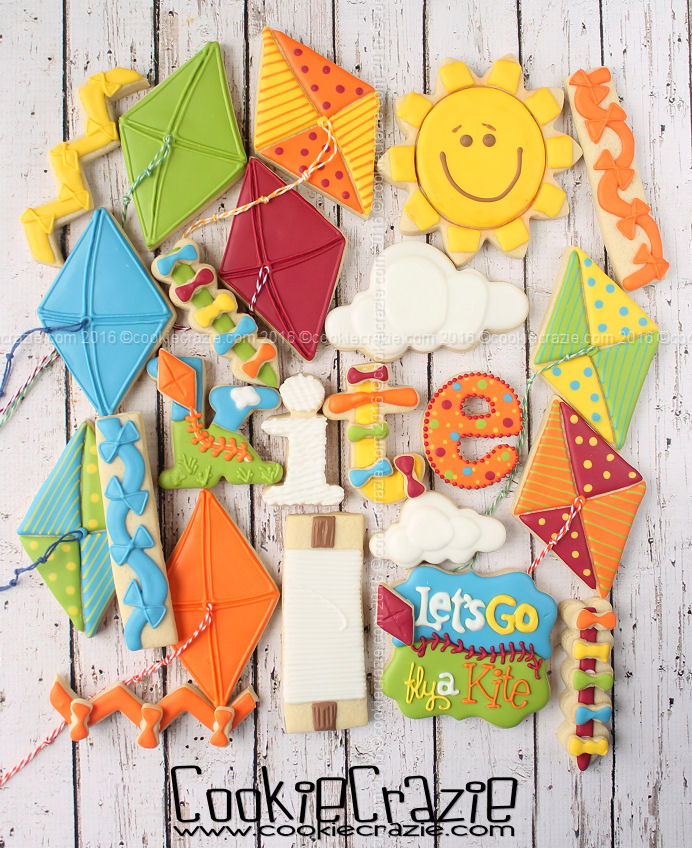 Let's Go Fly a Kite Decorated Cookie Collection