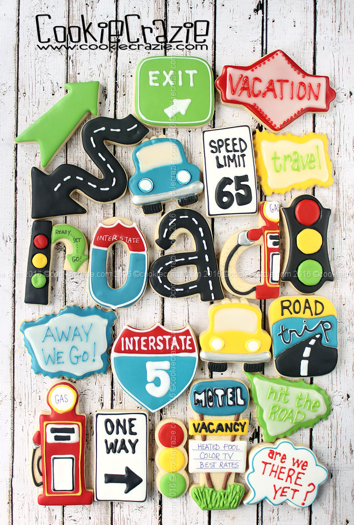 Road Trip Decorated Cookie Collection