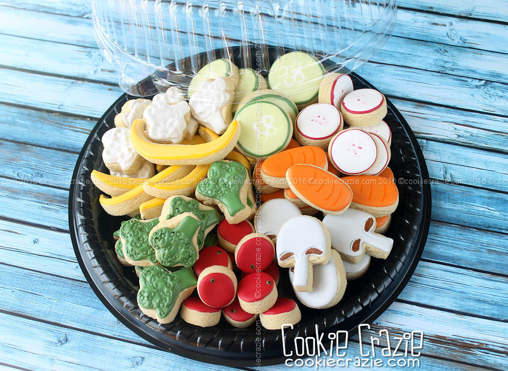Veggie Tray Decorated Cookie Collection