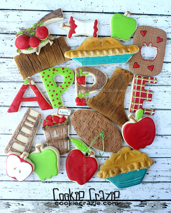 2016 Apple Pickin' Decorated Cookie Collection