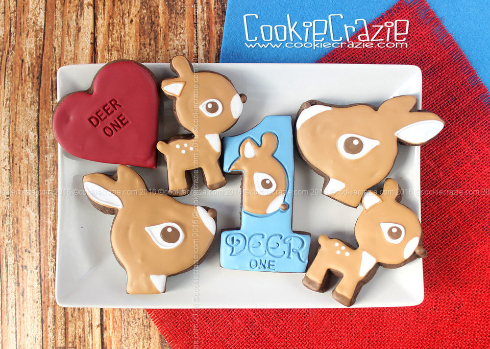 Deer One Valentines Decorated Cookies