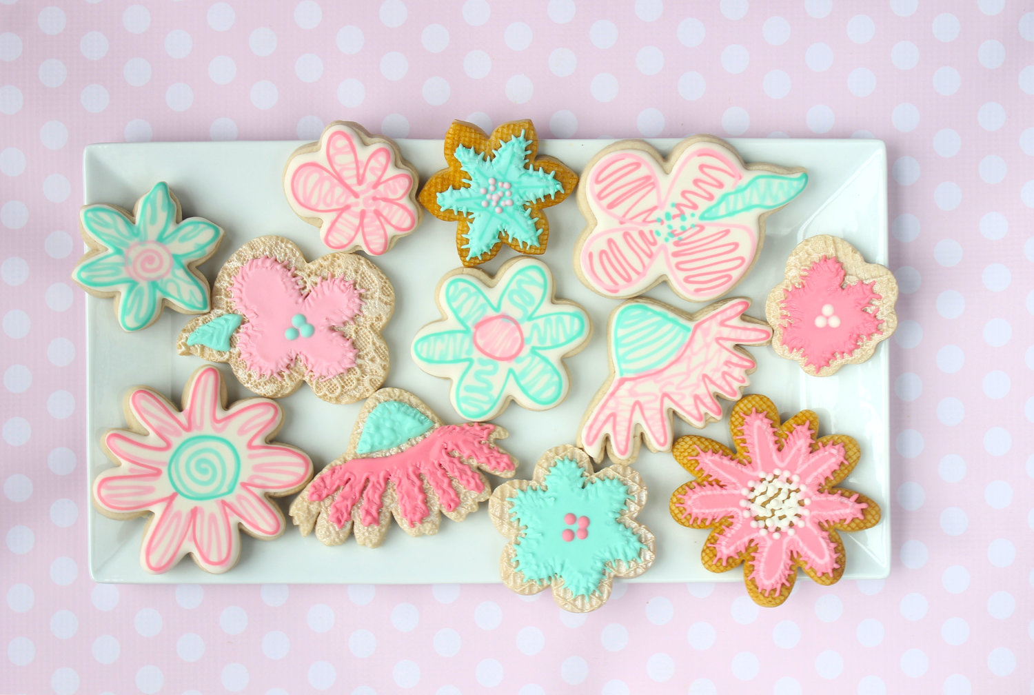 Heres May Flowers From April Showers Decorated Cookies Cookiecrazie