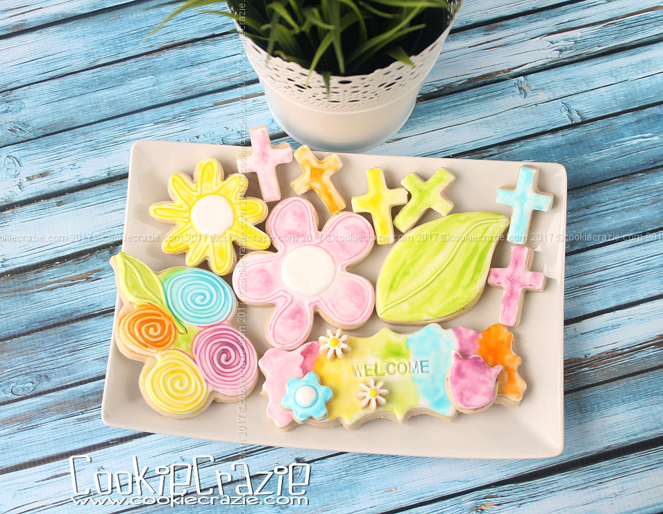 Aquash Water Brush Spring Decorated Cookies