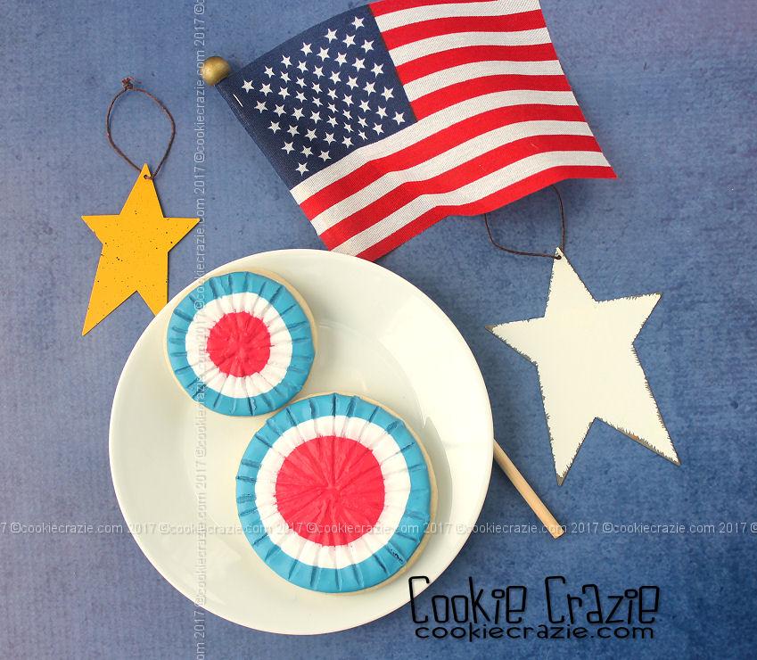 6ecd7cc79c2 Patriotic Medallion Bunting Decorated Cookies (Tutorial) — CookieCrazie
