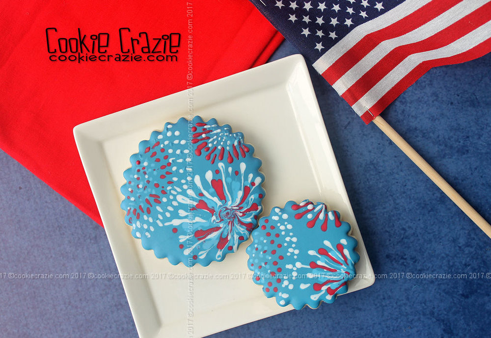 c259cdc3a81e Fireworks Decorated Cookies — CookieCrazie
