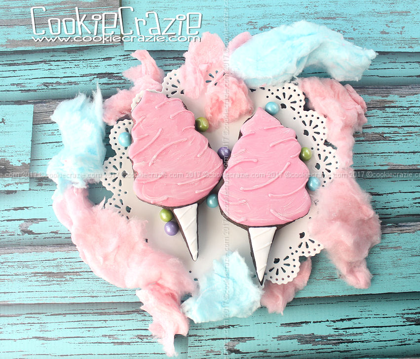 Cotton Candy Decorated Cookies (Tutorial)