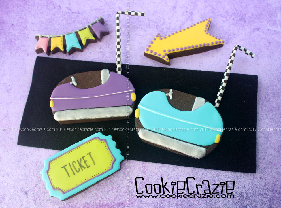 Bumper Car Decorated Sugar Cookies (Tutorial)