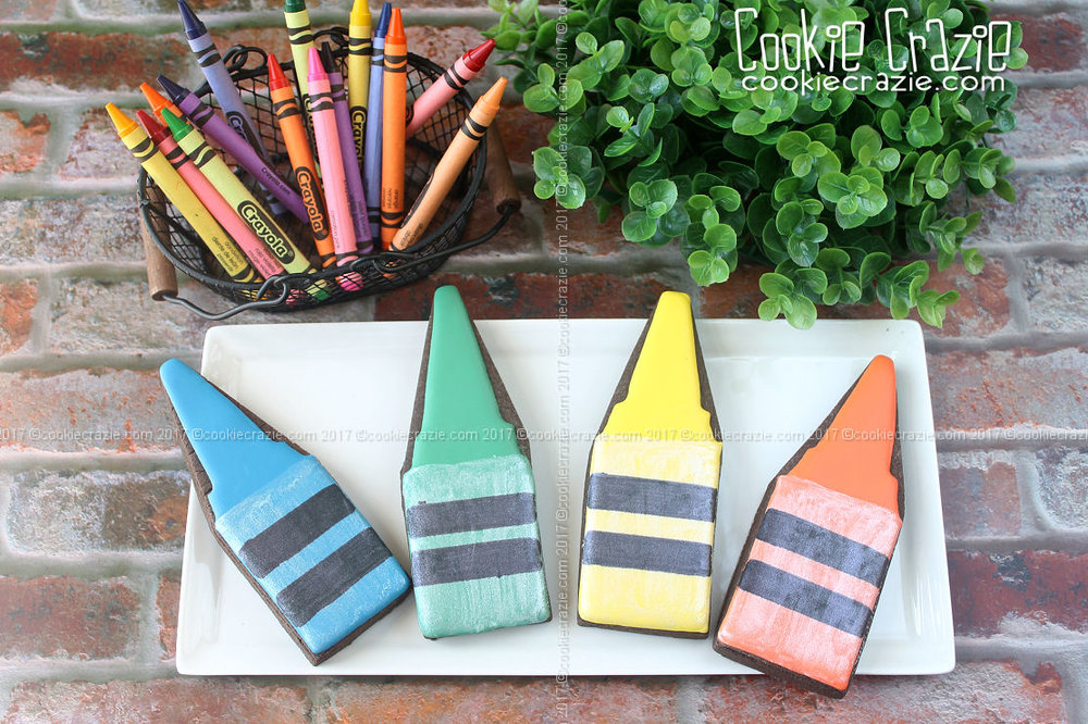 Crayon Nub Decorated Cookies (Tutorial)