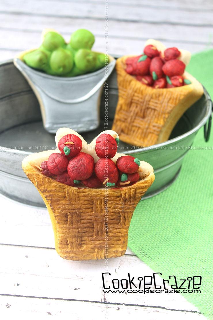 Apple Basket & Bucket Decorated Cookies (Tutorial)